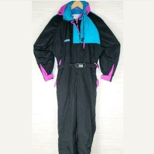 Womens Vintage Columbia One Piece Ski Suit Small